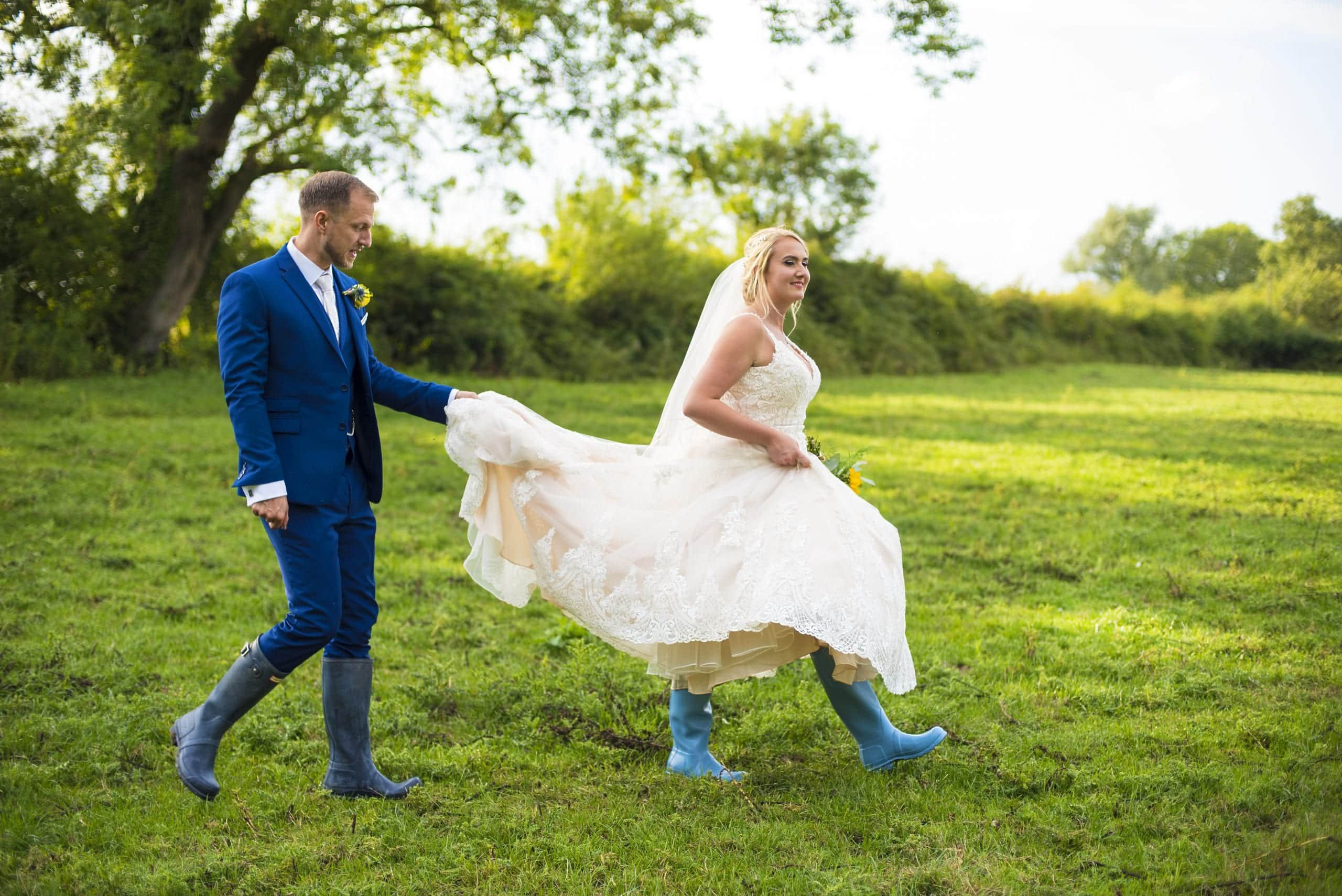 Hunter wellies on your wedding day