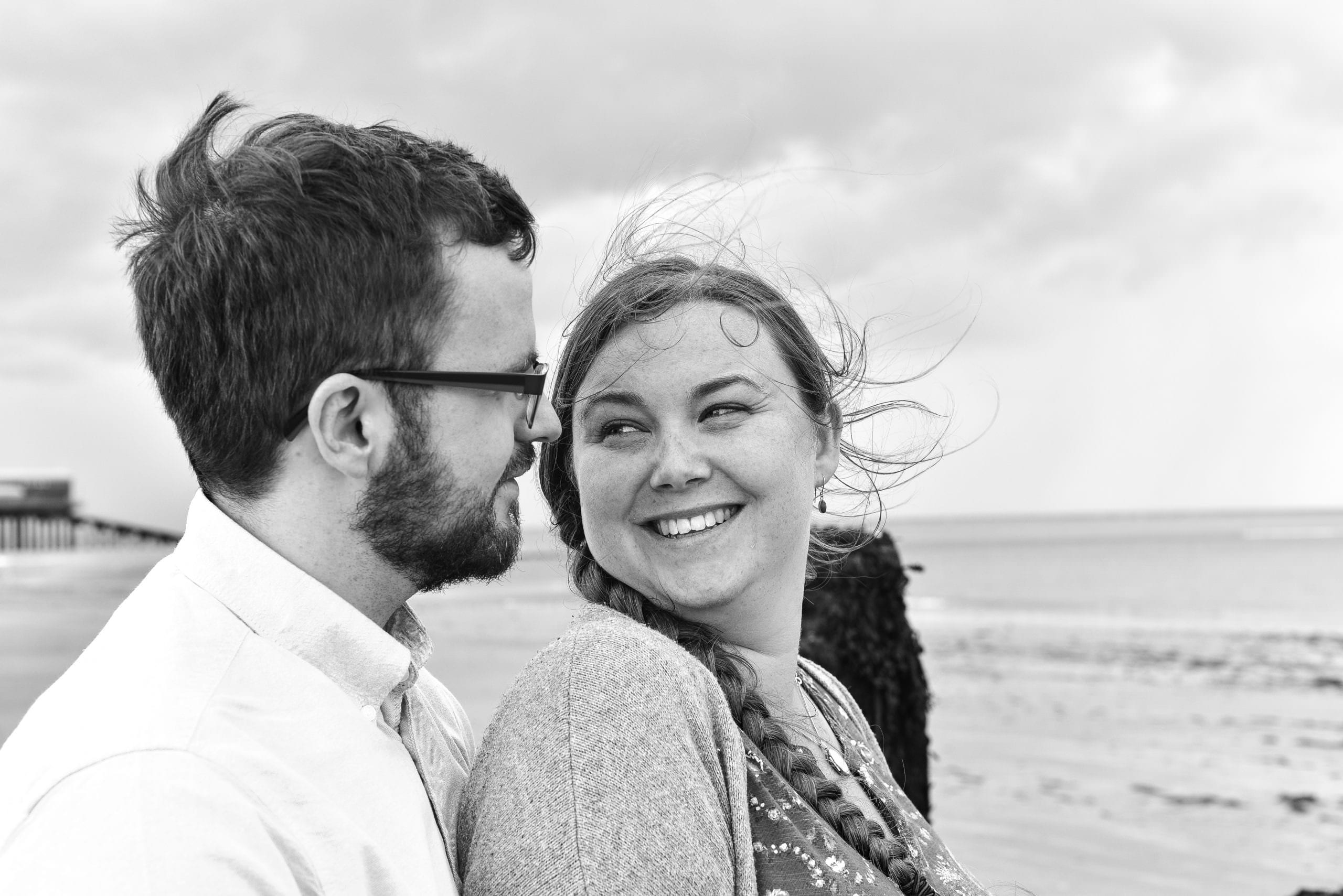 In love photoshoot in Cromer, Norfolk
