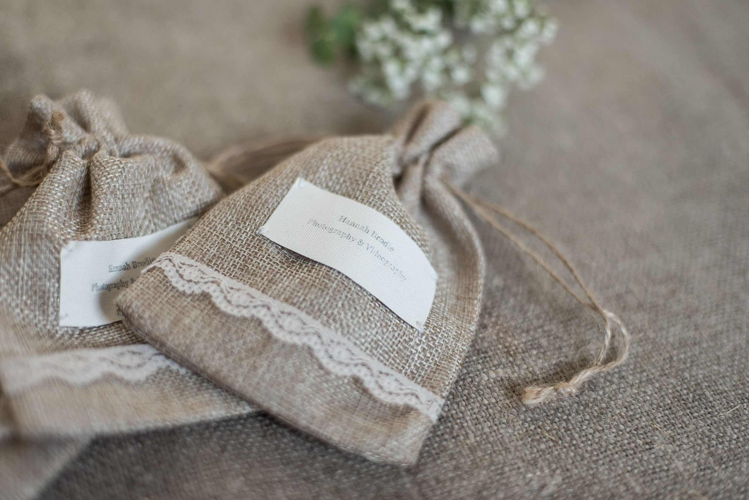Personalised USB Stick Bags for client wedding photos