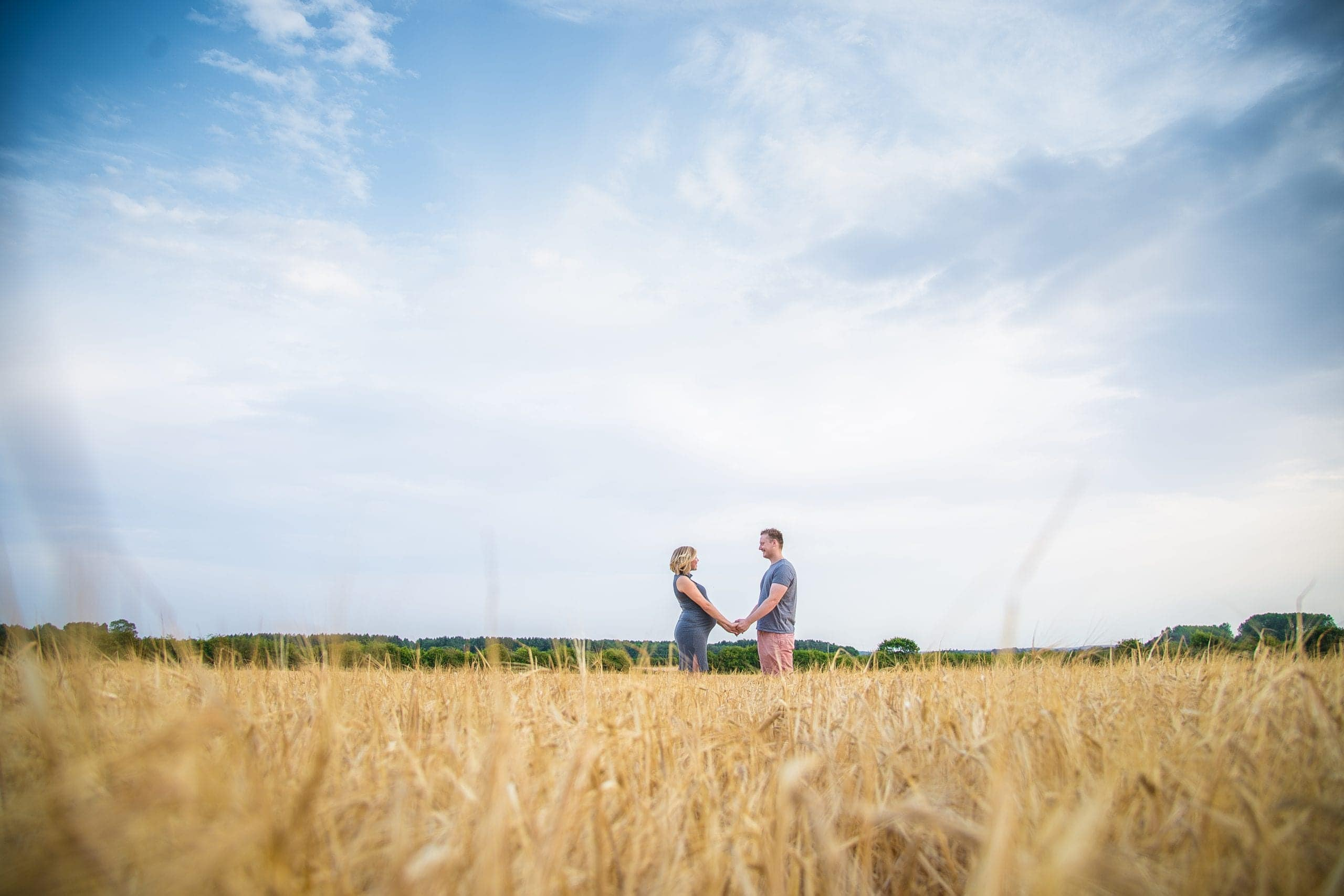 Married couple on their maternity photoshoot in norfolk