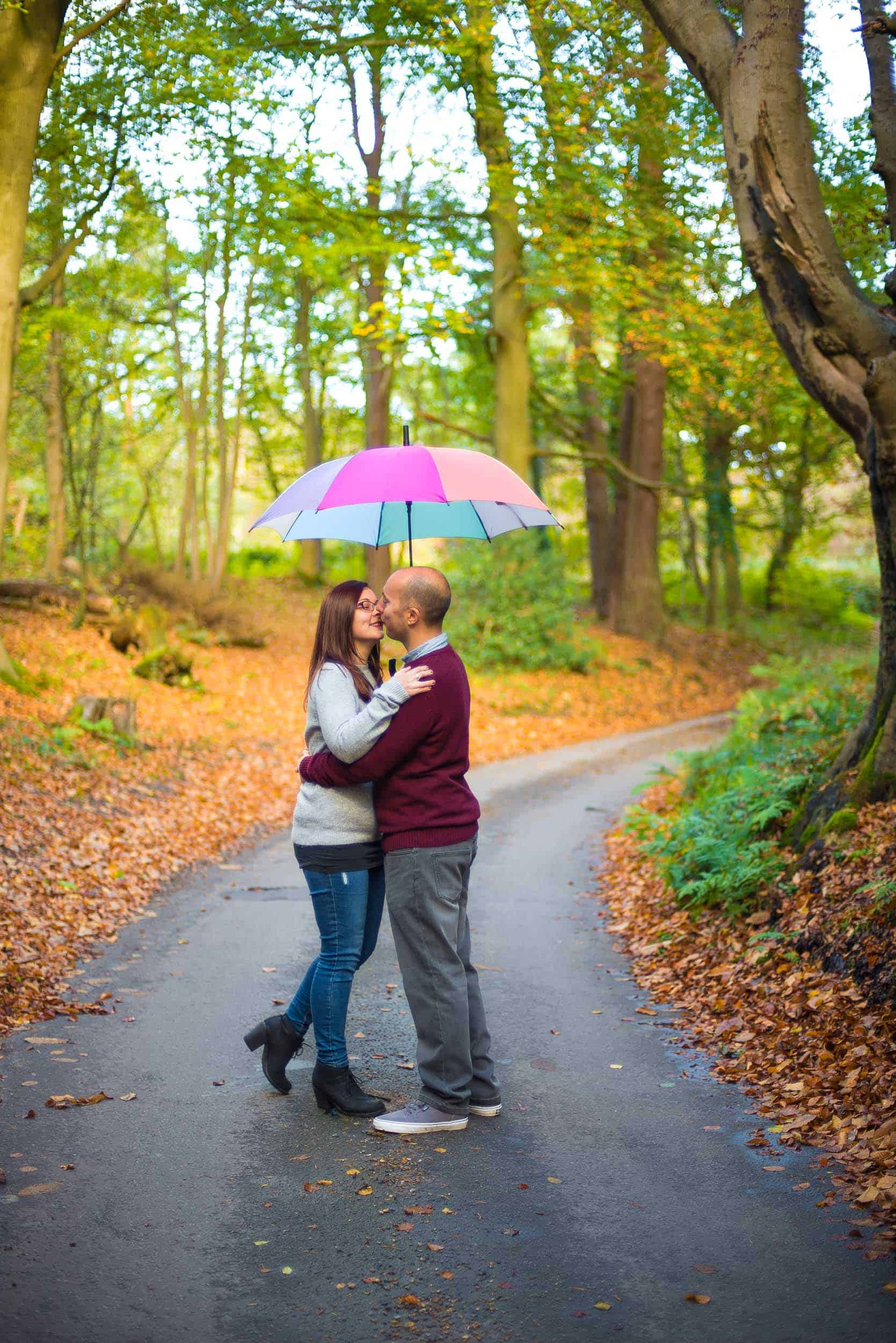 autumnal couple photo shoot in norfolk