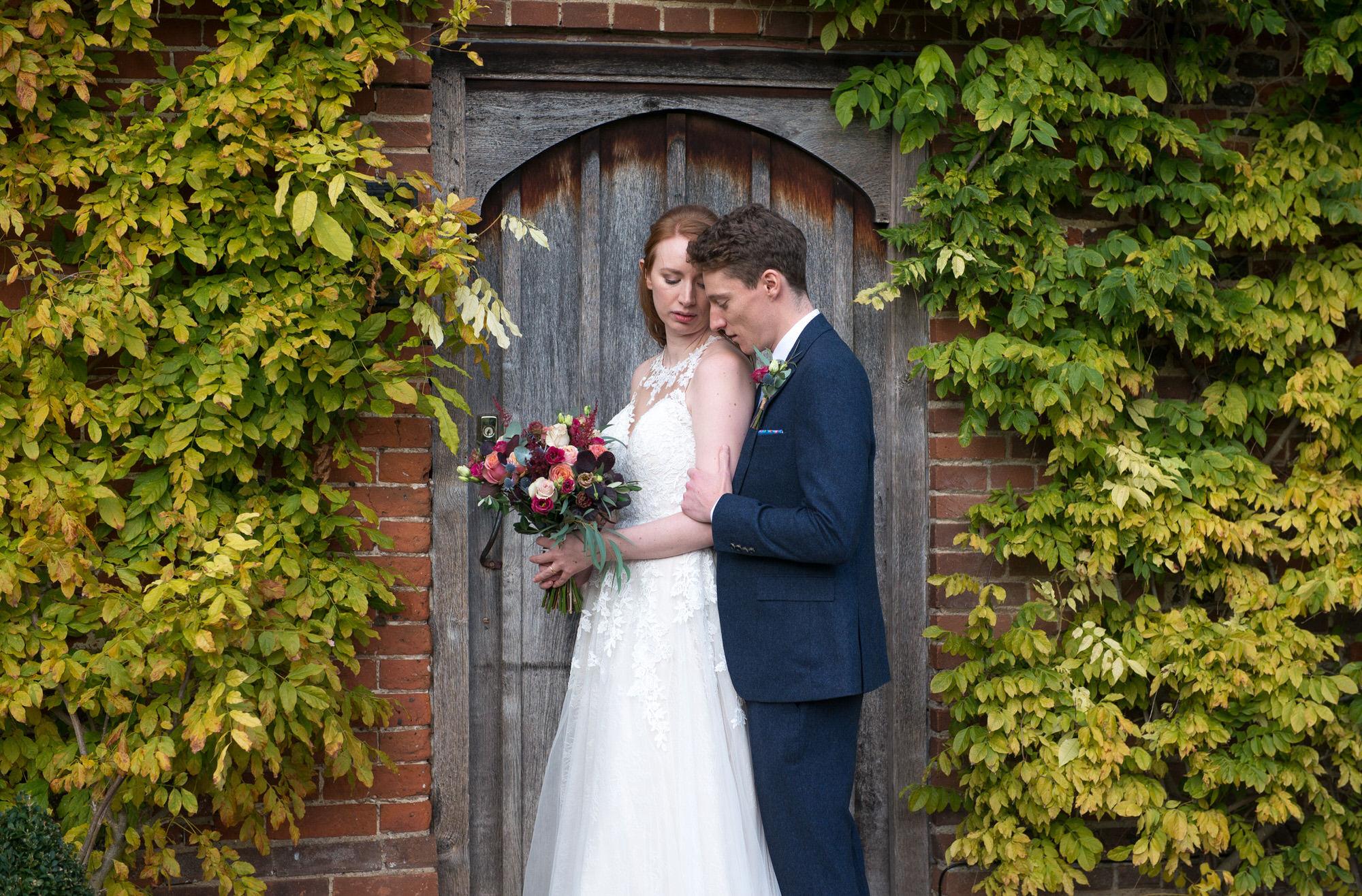 winter wedding at hales hall